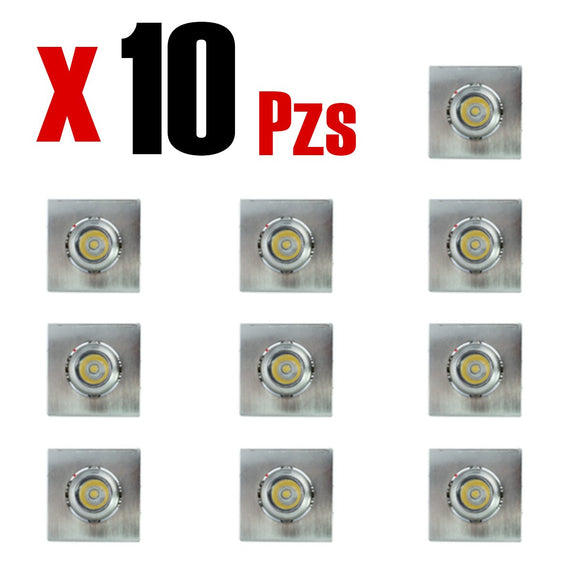 Pointing Light Cuadrado 1w Calido 10 Piezas - Interled Mexico