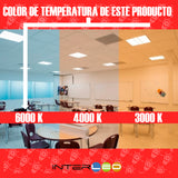 Downlight Panel Empotrado Cuadrado 9W Frio 10 Piezas - Interled Mexico