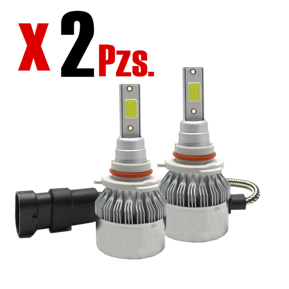 Kit De Luces Led Tipo Xenon Faros Auto C6 9006 - Interled Mexico