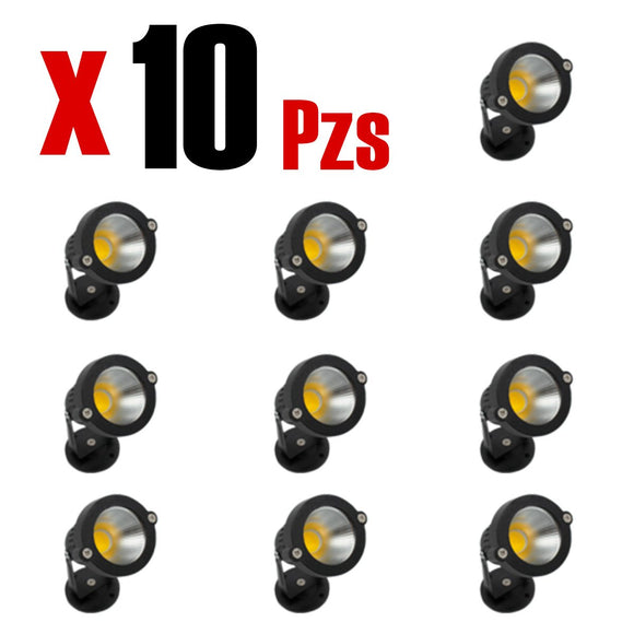 Proyect Light Negro 3w Calido 10 Piezas - Interled Mexico