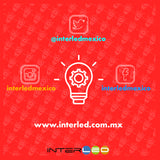 Downlight Empotrado Cristal Redondo 3 Temperaturas de color 16W 10 Piezas - Interled Mexico