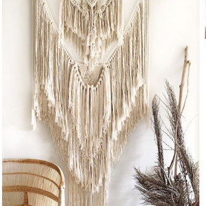 """Mother of Pearl"" Macrame by Roundnine9"