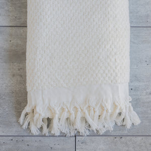 TASSEL TOWEL CREAM
