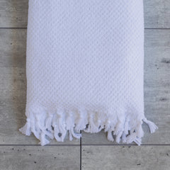 TASSEL TOWEL WHITE