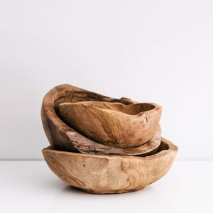 HAND CARVED TREE ROOT SERVING BOWL