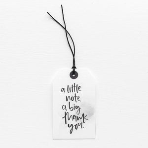 A LITTLE NOTE, A BIG THANK YOU // GIFT TAG