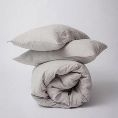 DUVET SET | smoke grey linen by cultiver - queen
