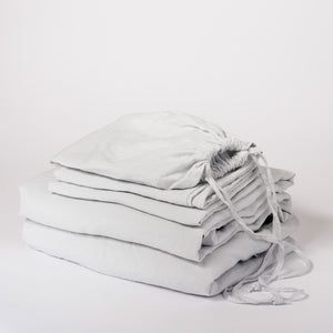 SHEET SET | ice blue linen by cultiver - king