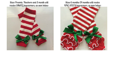 b905f0786 ... Baby Girl Christmas outfit- Preemie Newborn and 3 months- newborn leg  warmers - Personalized ...