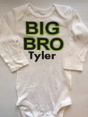Big Brother Shirt -Big Bro Shirt - Personalized big brother shirt shirt -Pregnancy reveal - pregnancy annoucement - Big brother shirt