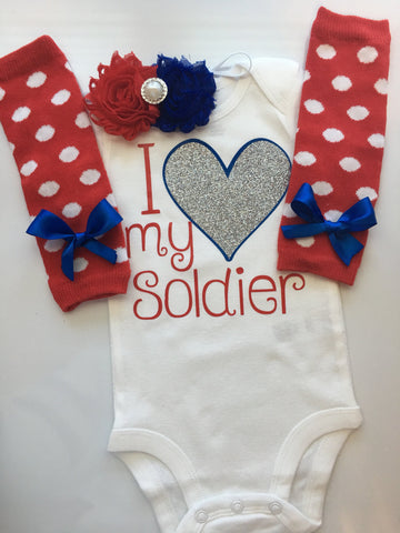 Baby girl - I love my Solider - I love my Airman - I love my Marine - I love my Sailor - military baby girl - homecoming outfit - baby girl