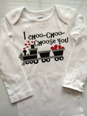 baby boy toddler boy valentines outfit valentines choo choo train i choo choose you