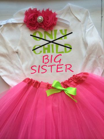 BIG SIS outfit - big sister outfit - big sister shirt- Only Child  outfit - Big Sister