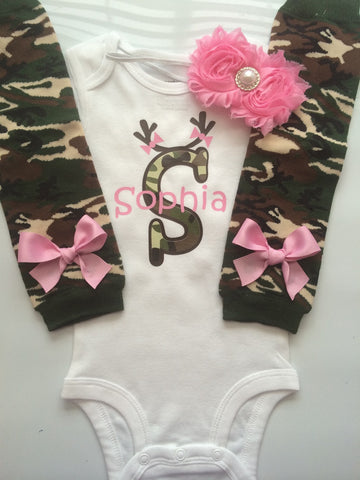 Baby Girl Camo Clothes Mesmerizing Baby Girl CAMO Hunting Outfit Newborn Outfit Personalized Baby