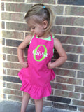 Kid's Apron - personalized kids apron - personalized girl's gift - Monogramed girl's apron - one-size