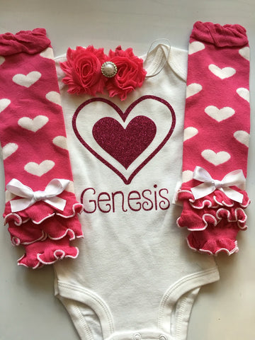 97bcbe11f Baby Girl Outfit - Valentines Day Outfit - baby valentines leg warmes -  legwarmers - personalized