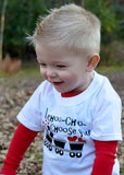 Baby boy Toddler Boy Valentines Outfit -Valentine's choo choo train- I choo choose you -toddler boy valentines