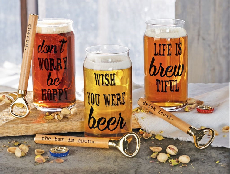 LIFE IS BREW-TIFUL BEER GLASS SETS