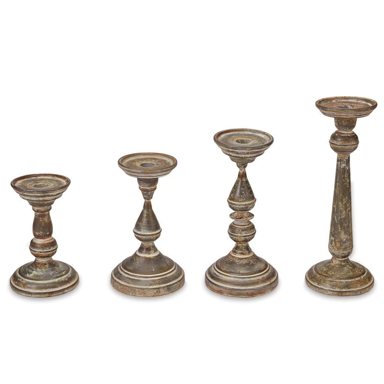 FLUTED TIN CANDLESTICKS