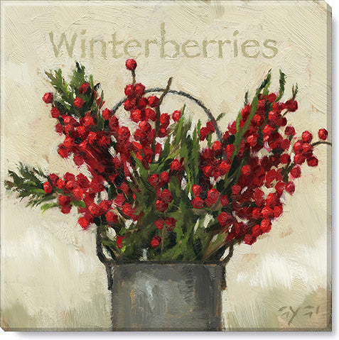 Christmas Winterberries Giclee Wall Art - Darren Gygi