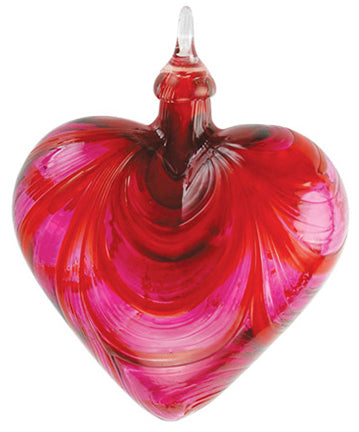 Blown Glass Red Valentine Classic Heart Ornament
