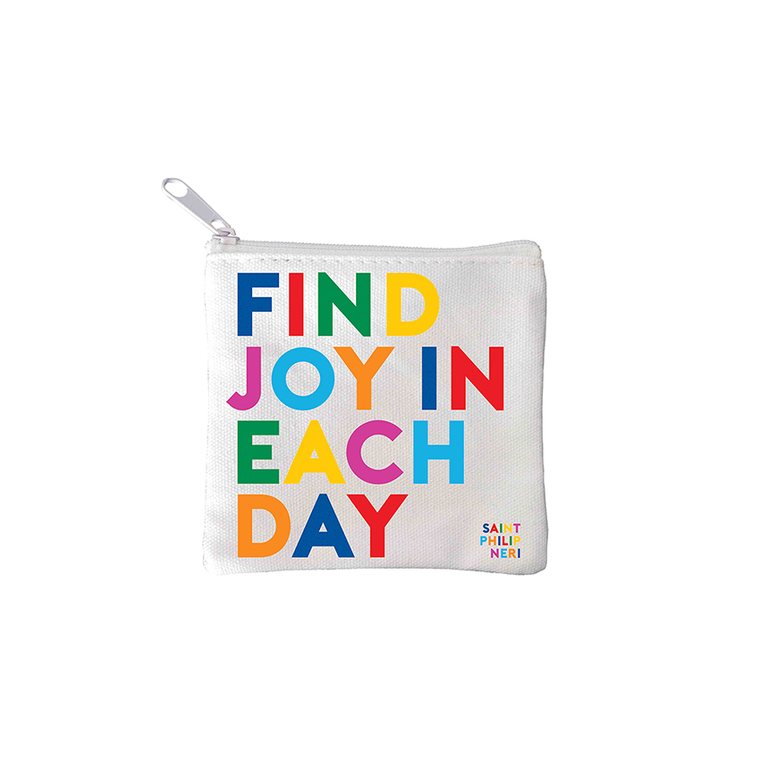 Mini Pouches- Find Joy (Saint Philip Neri)
