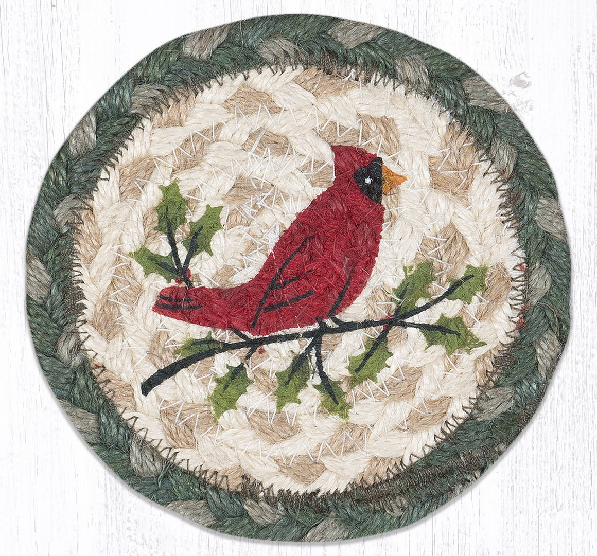 Holly Cardinal Coaster