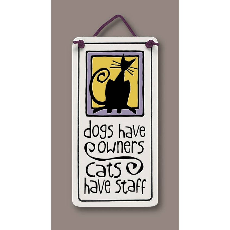 Cats Have Staff Wall Art Tile