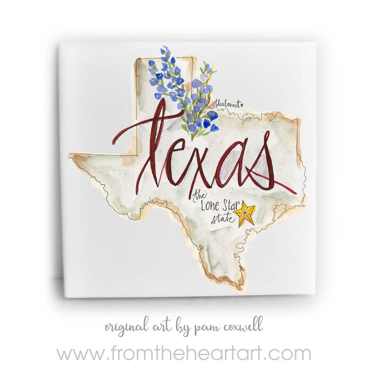 Texas Ceramic Tile by Pam Coxwell