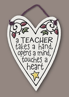 'A teacher takes a hand, opens a mind, touches a heart'' Tile