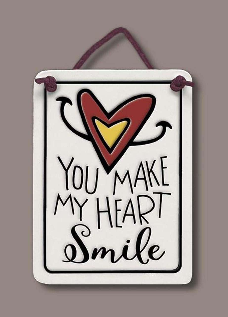 Wall Art Heart Smile Tile