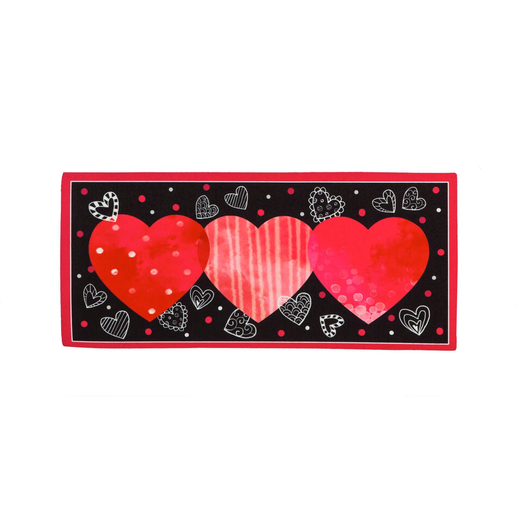 Valentine's Day  Sassafras Switch Mat Heart Trio
