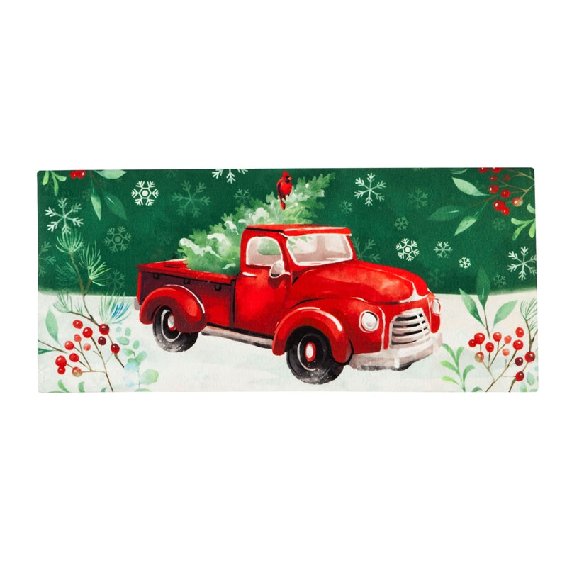 Christmas  Sassafras Switch Mat Christmas Heritage Red Truck