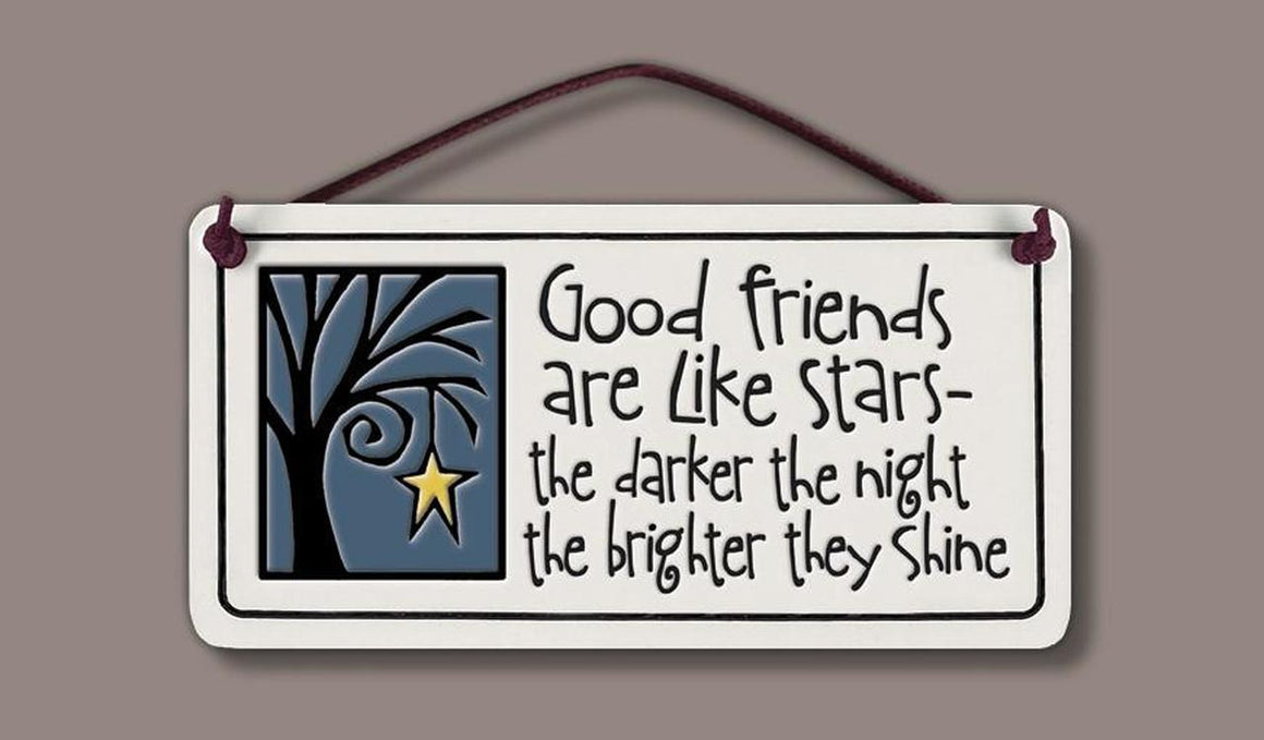 Good Friends are like Stars Tile