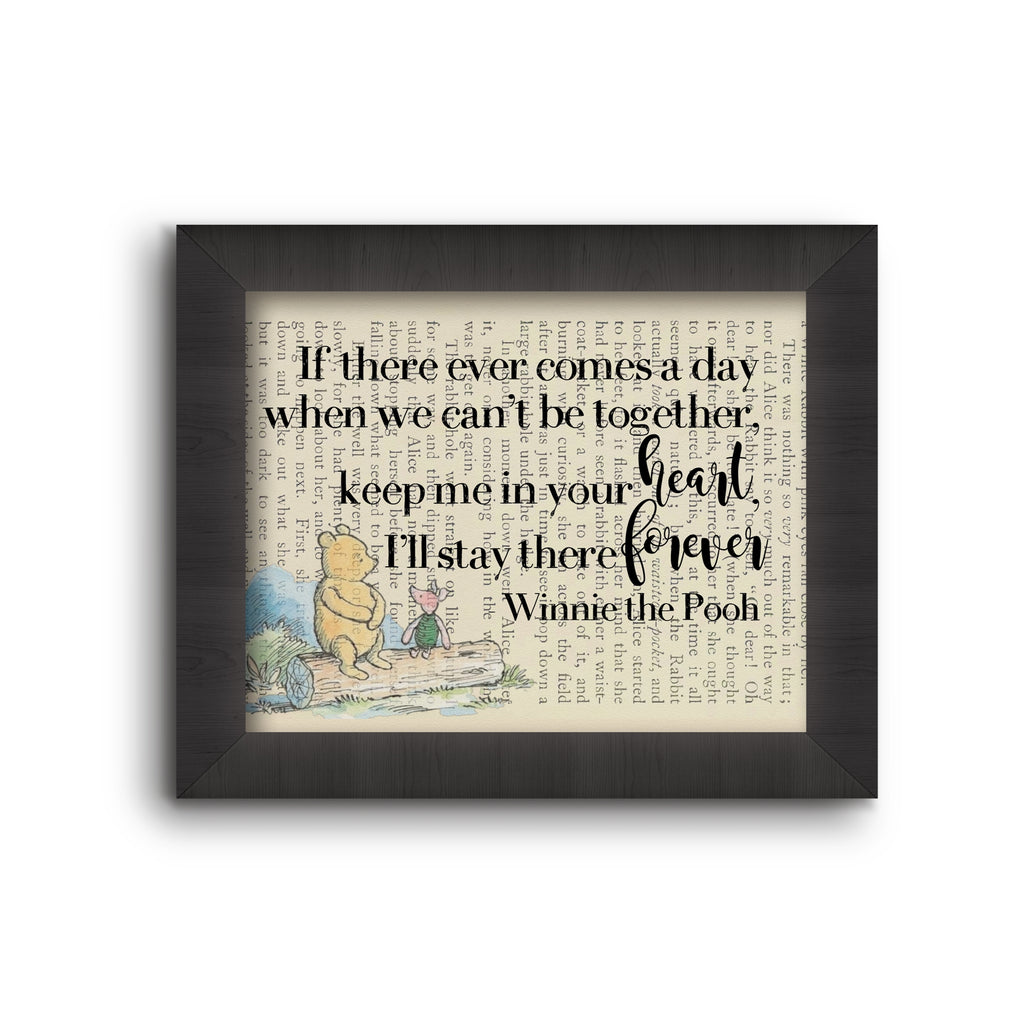 Book Art  - If There Ever Comes A Day - …, Winnie the Pooh