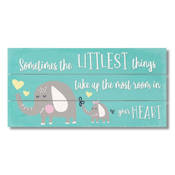 WOOD SIGN-LITTLEST THINGS-TEAL
