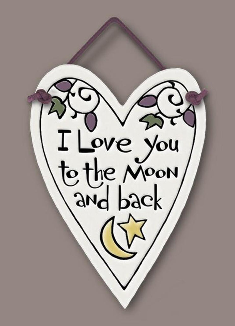 ''I love you to the moon and back'' Tile