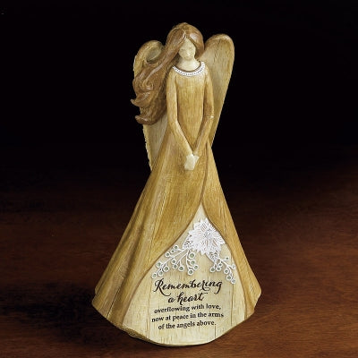 Angel Figurine Remembering a Heart Memorial