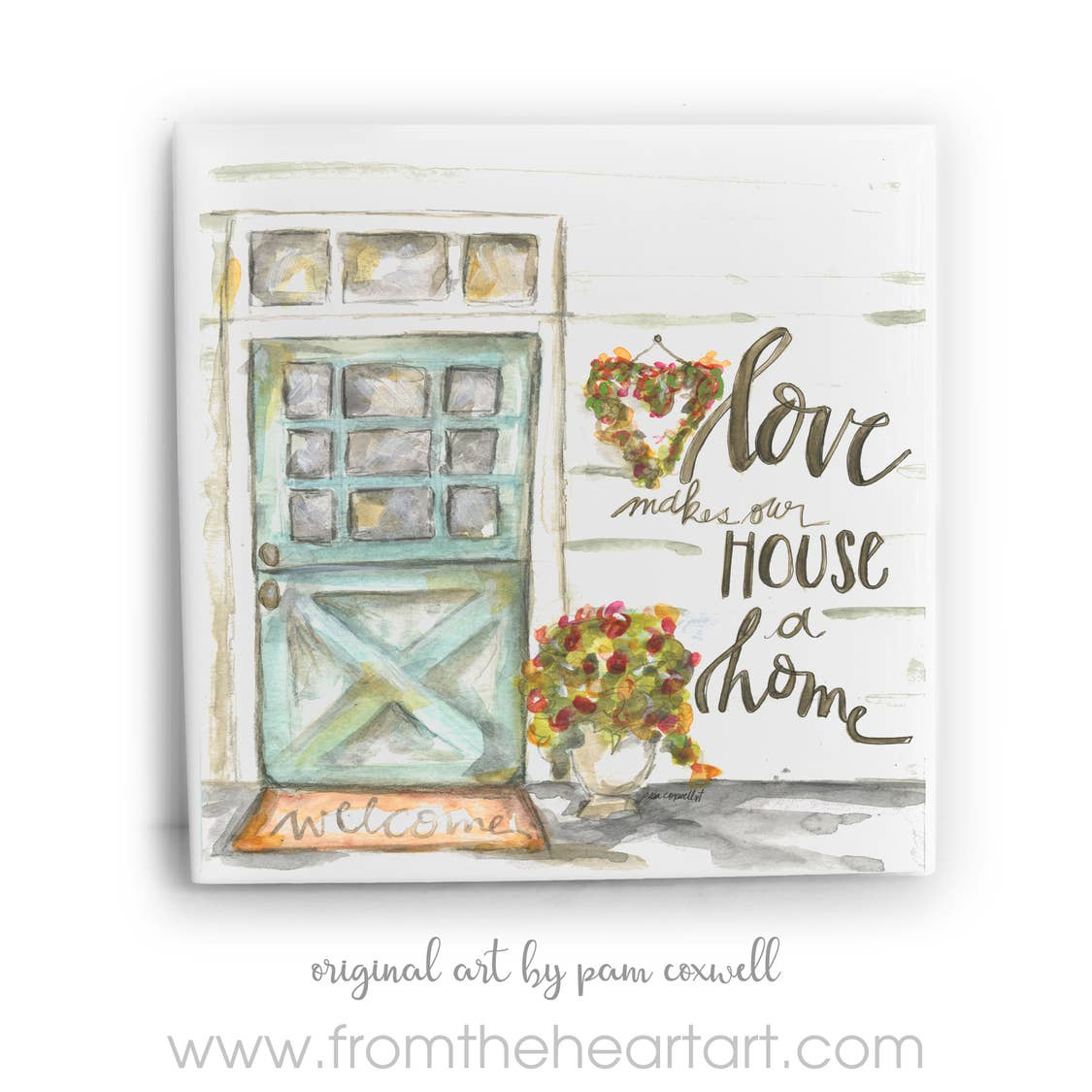 Spring Door  Ceramic Tile by Pam Coxwell