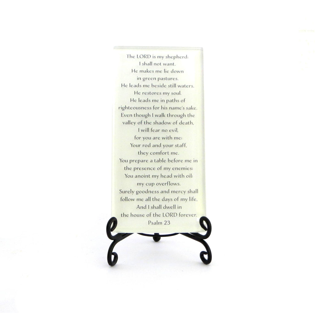 Inspirational Glass Plaque - The LORD  is my Shepherd...