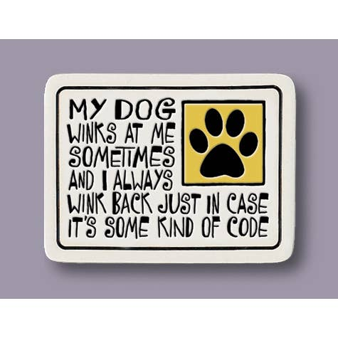 Magnet Dog Winks Tile