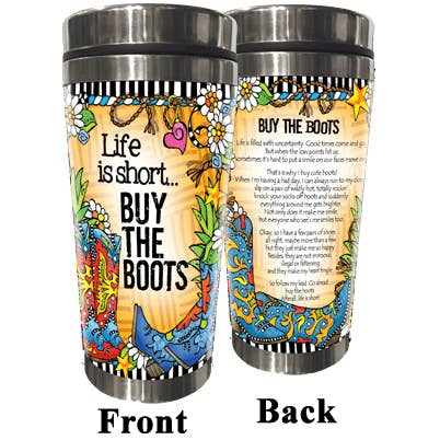 Suzy Toronto Stainless Steel Tumbler - Buy the Boots (TingleBoots)