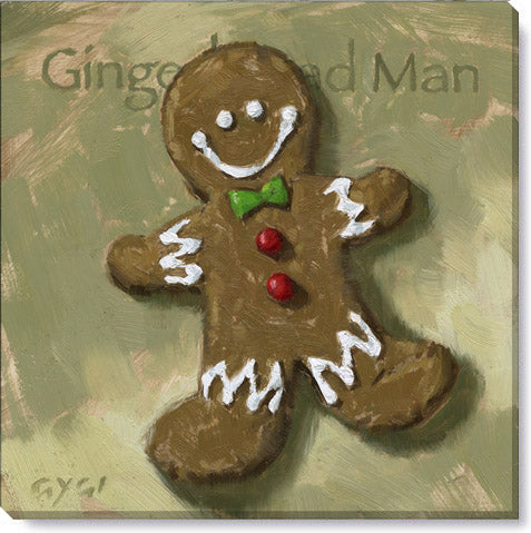 Gingerbread Man Canvas Art Print - Darren Gygi