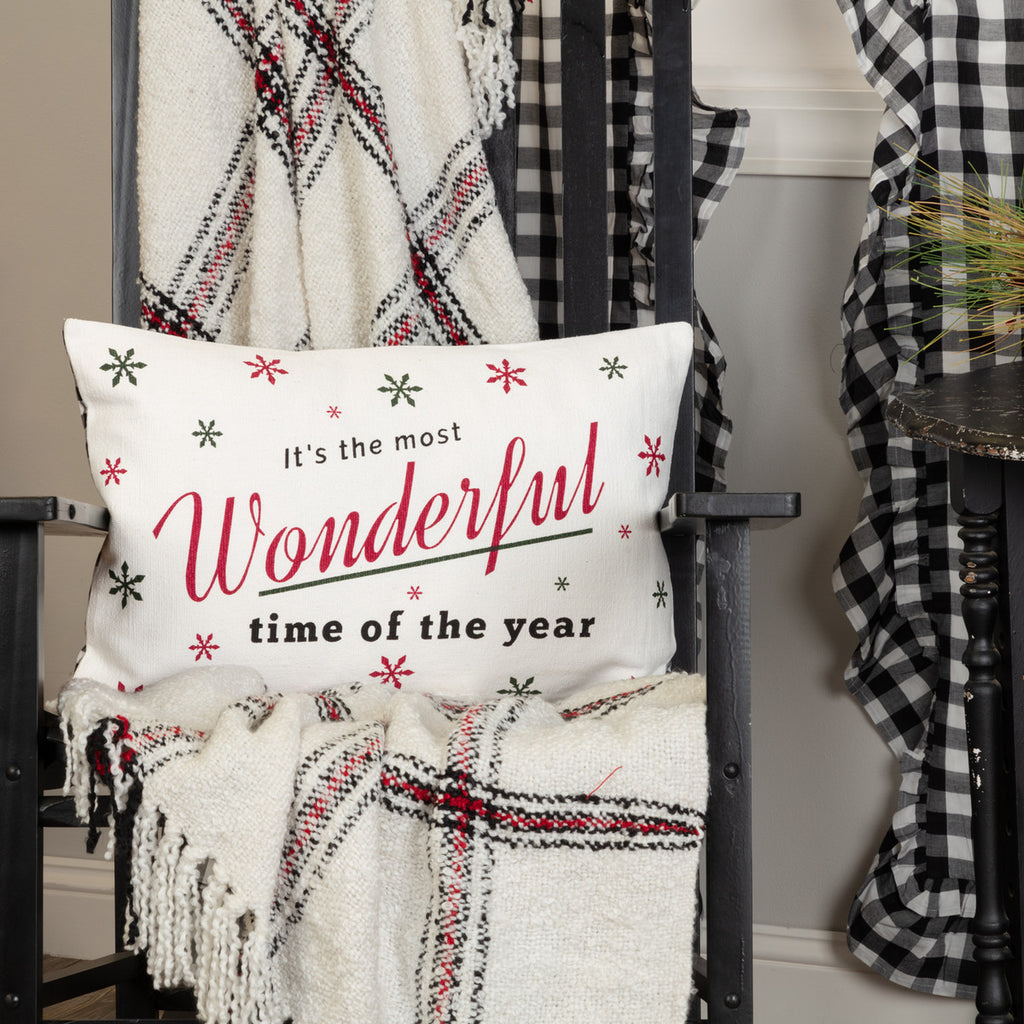 WONDERFUL TIME PILLOW 14 X 22