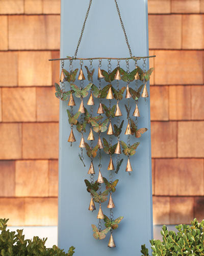 Shimmering Bells with Butterflies Mobile