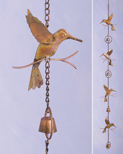 Hummingbirds and Bells Ornament
