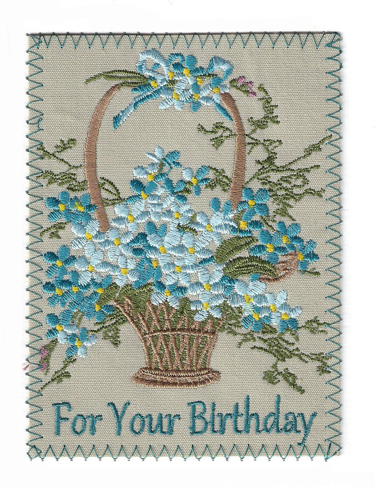 Bithday Greeting Cards - Embroidery