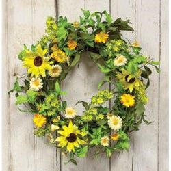 Sunflower & Twig Wreath