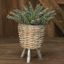 Willow Basket Plant Stand