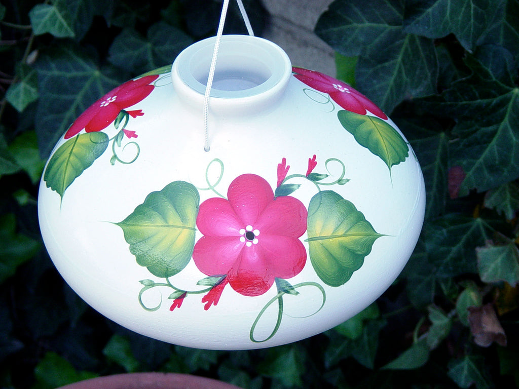 Red Posy Hummingbird Feeder - Large